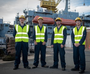 SeaKing Electrical hires four new apprentices on 10th anniversary of training scheme