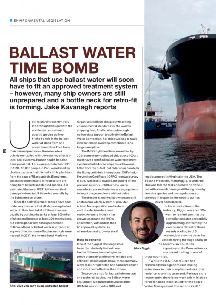 SeaKing features in special 'Ballast Water' report from The Marine Professional1