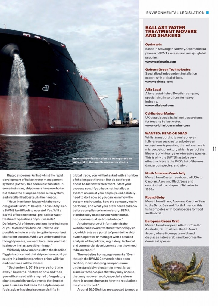 SeaKing features in special 'Ballast Water' report from The Marine Professional2